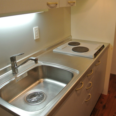 キッチンは2口※写真は前回掲載時のものです。