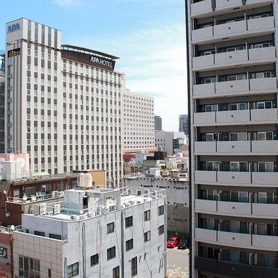 APA HOTELや東急ホテルがよく見えます!