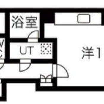 2人入居可能な1LDKのお部屋です。