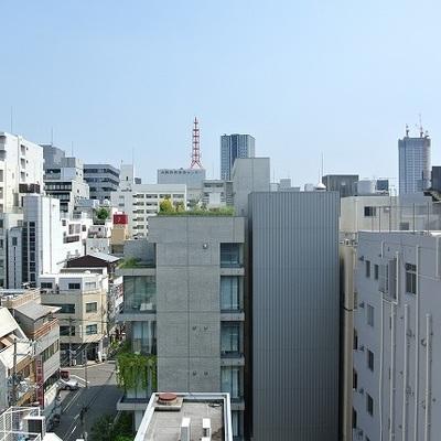 都会のビル群の見える風景 ※写真は別部屋