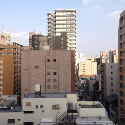 9階から望む景色。