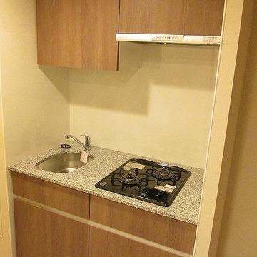 キッチンも二口コンロでお料理もしやすい!※写真は別部屋です。間取りは図面をご確認ください。