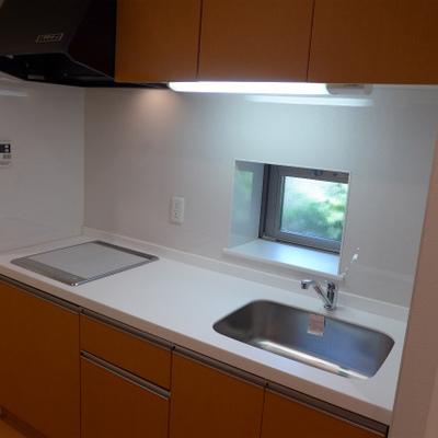 キッチンにも窓あり。システムキッチンって良い!