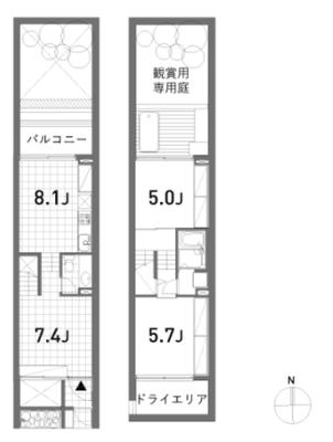 軽井沢にあったアウトドアバス の間取り