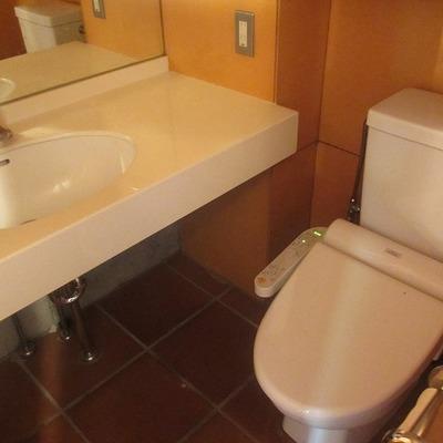 トイレと洗面台。きれいです