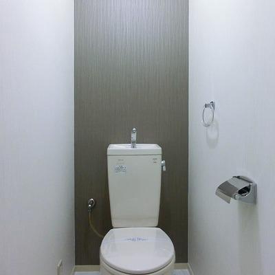 アクセントウォールのあるおトイレ