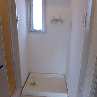 室内洗濯機置き場、棚もついています!