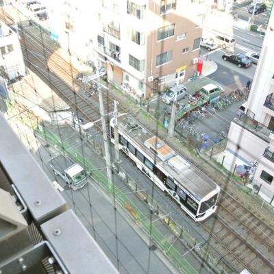 阪堺電車が走る光景が!小さいロカール線です