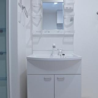 洗面台も大きく、使い勝手が良さそう!