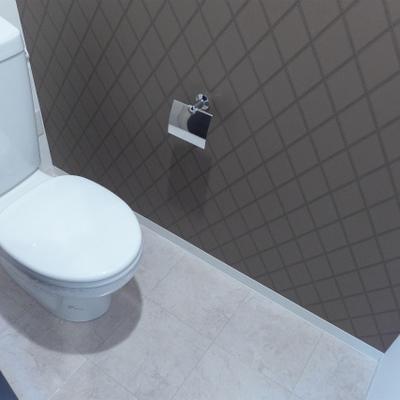 トイレの壁紙はブラウン!