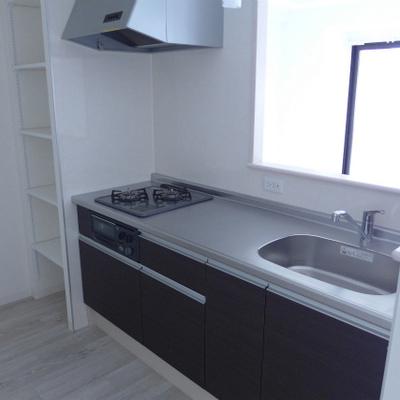 システムキッチン、対面式!素敵!