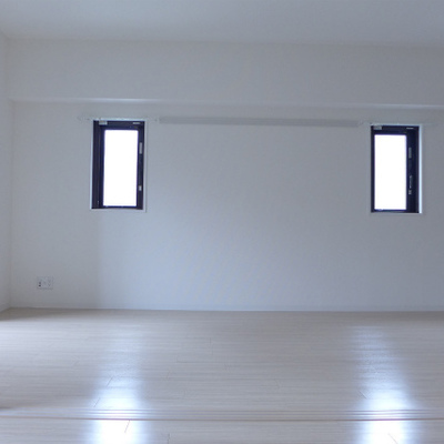 洋室からLDKを眺める。小窓も素敵!