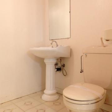 独立洗面台とトイレも一緒