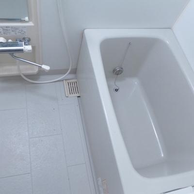 お風呂シンプル。広さは十分かな。