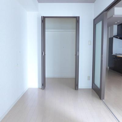 窓側から洋室の眺め。大きめクローゼット!
