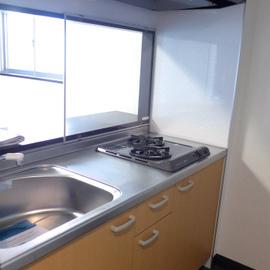 キッチン、2口ガスコンロで収納もgood!