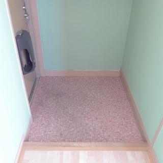 玄関も広くはありません。シューズボックスの設置が必要です!