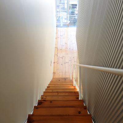 長い階段です