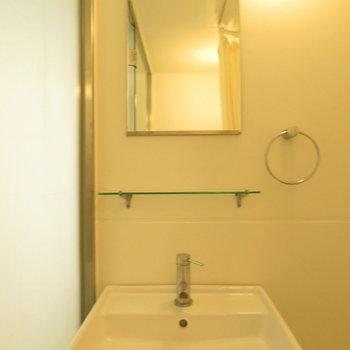 収納はほぼない洗面台。シンプルです