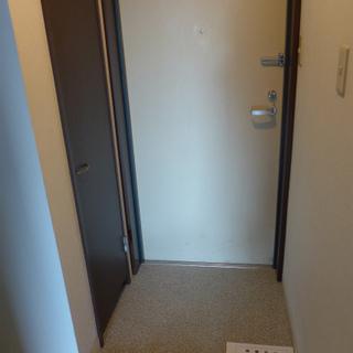 玄関にシューズボックス!広さは普通。