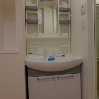 洗面台も十分大きく、使い勝手もgood!