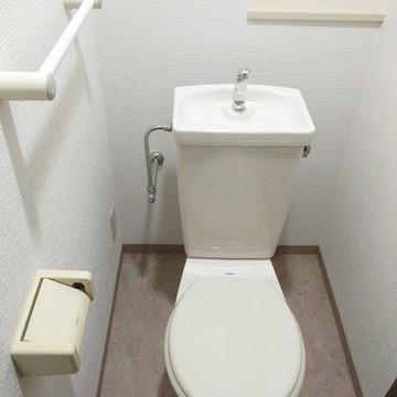 トイレ。ウォシュレットは付いていません。
