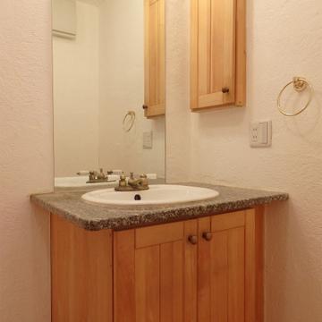 洗面台もオシャレ。