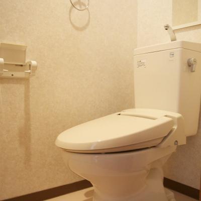 トイレにはウィシュレット付いてます