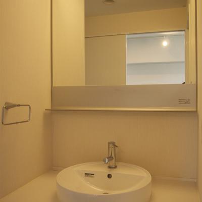 小ぶりの洗面台※写真は別部屋です。