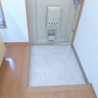 玄関と床に段差があります。