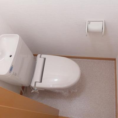 手洗器付きトイレ!