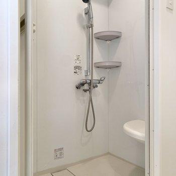 シャワーで1日の汗をサッと流しましょう。