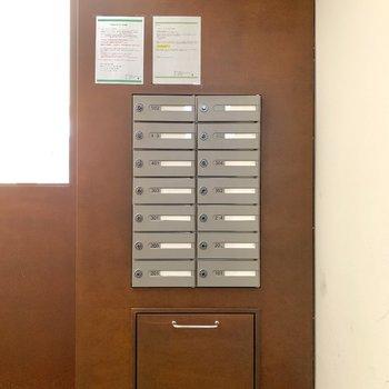 オートロック内からも郵便物が確認できます。