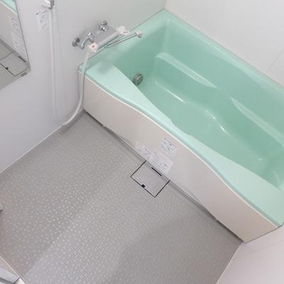 お風呂はミント。優しい空間♪