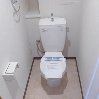 トイレも清潔感ばっちり!