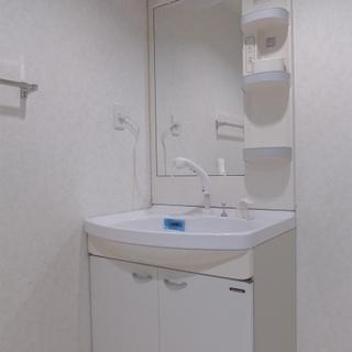 洗面台は大きめサイズ!