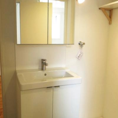 洗面台もしっかり。つぼを押さえていますよ!