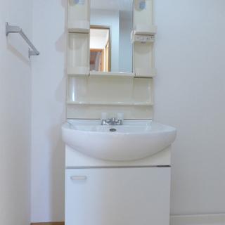 洗面台も大きめで使い勝手good。