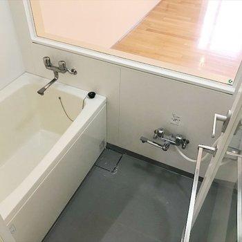 シャワー・鏡も付いてます。※写真は同間取り・別部屋のものです。
