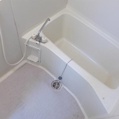 お風呂もシンプル。※写真は別部屋になります。