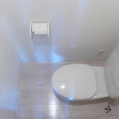 トイレも清潔感あります。