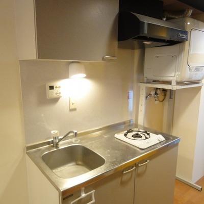 キッチンは一口ガスコンロ