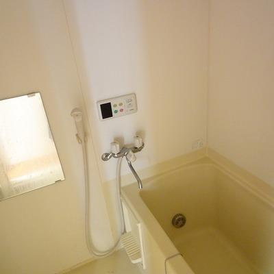 洗面台がなく、鏡はここだけ