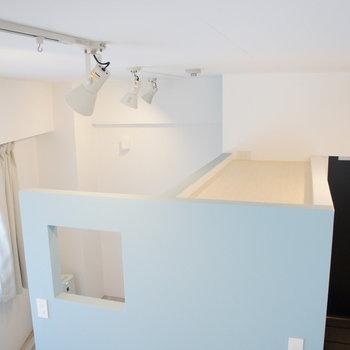 収納上部は天井高あるので、収納スペースとしても使えそうな空間があるんです!