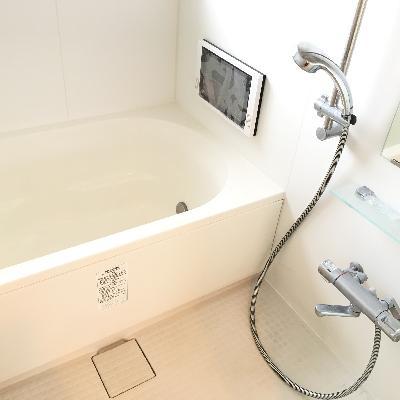 浴室にテレビが!
