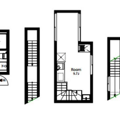 3層構造のお部屋です