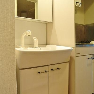 独立した洗面台