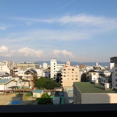 眺望は奈良の山