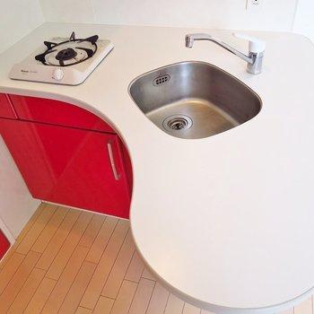 たまごみたいな形のキッチンが可愛らしいな。※写真は前回掲載時のものです。