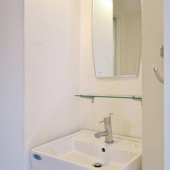 洗面台もあります!※写真は前回掲載時のものです。